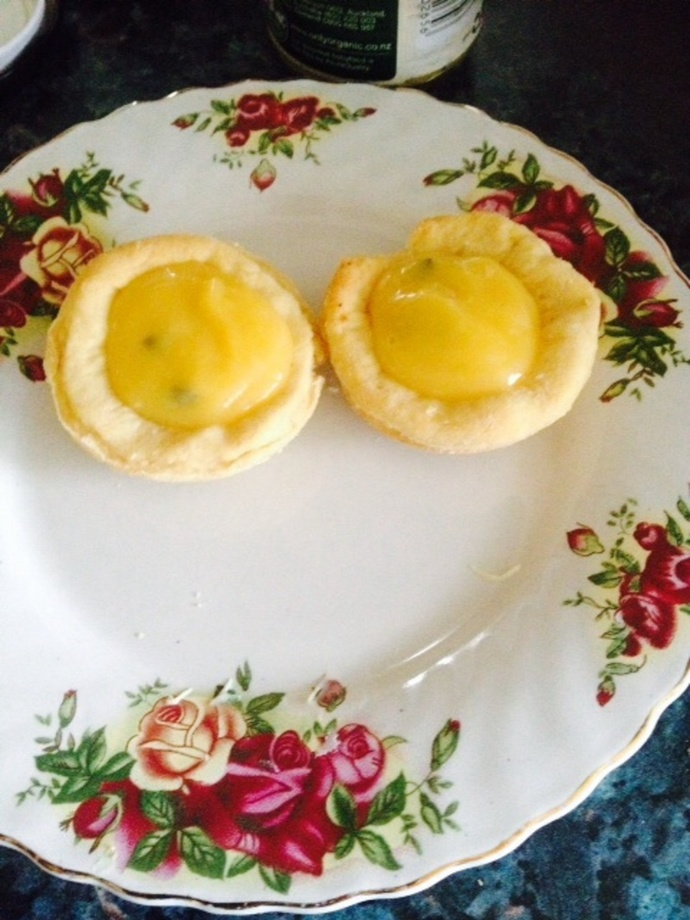 Passionfruit butter tarts