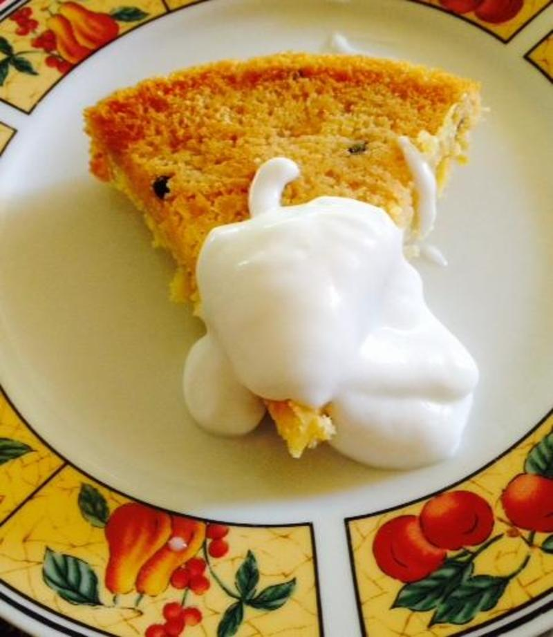 passionfruit cake with coconut yoghurt  - Passionfruit Cake