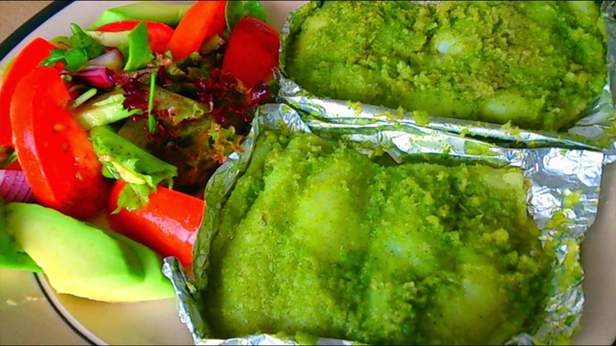 patrani machhi, steamed fish, parsi cuisine, healthy fish recipe, basa recipe