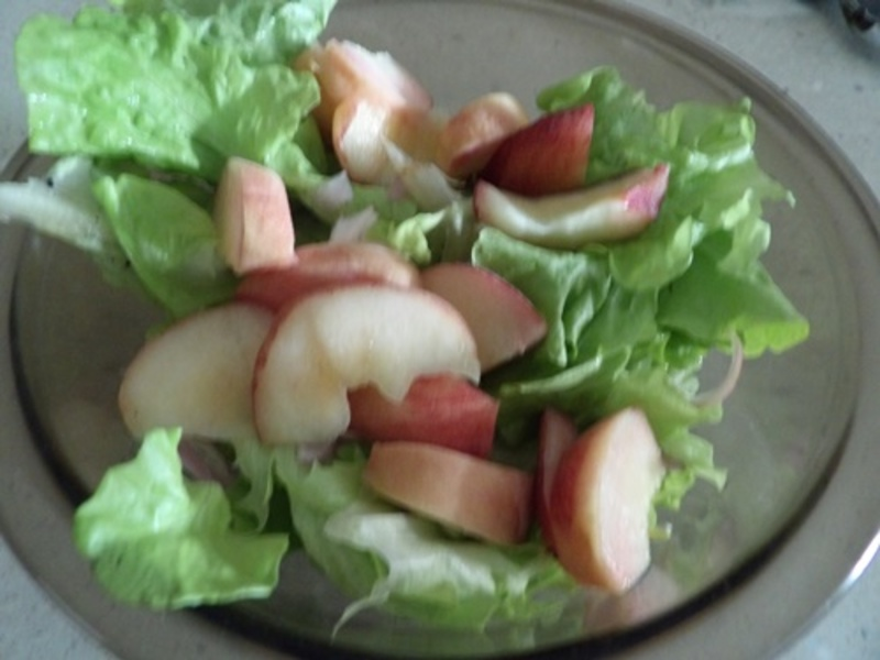 peach,salad,with,mushrooms
