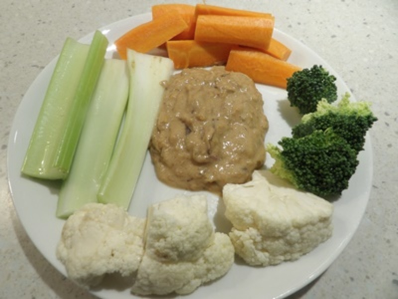 peanut,butter,dip,with,vegetables  - Healthy Peanut Dip with Raw Vegetables