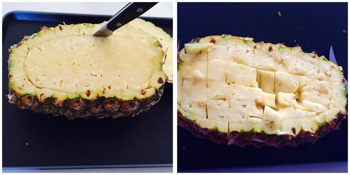 Pineapple Rice Boat Montage
