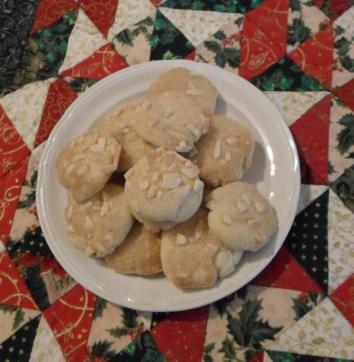 Plate of baked butter biscuits