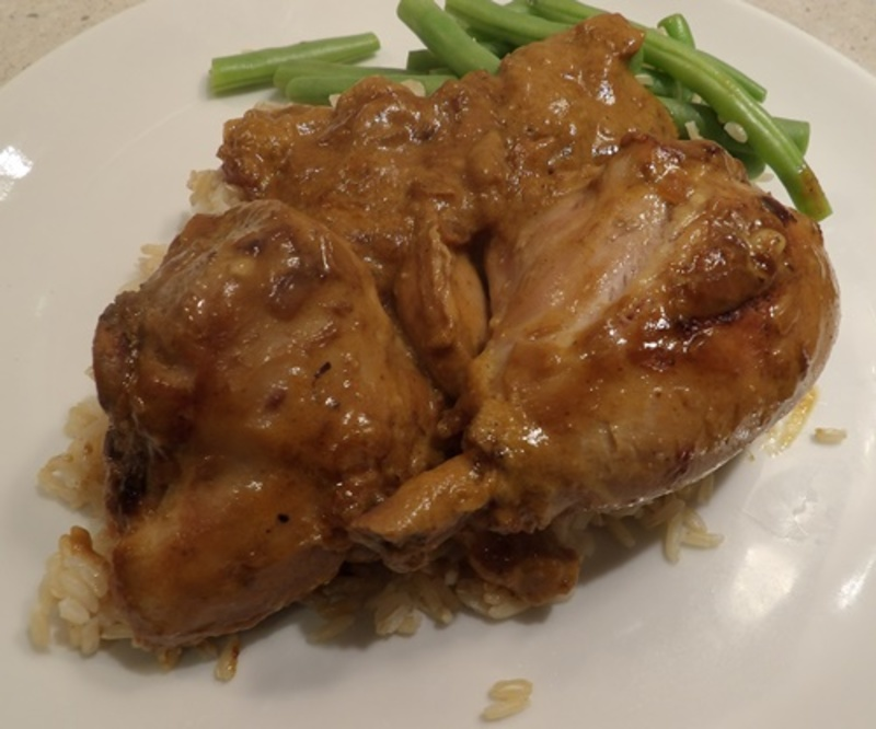 cooking,chicken,for,curry  - Burmese Chicken Curry