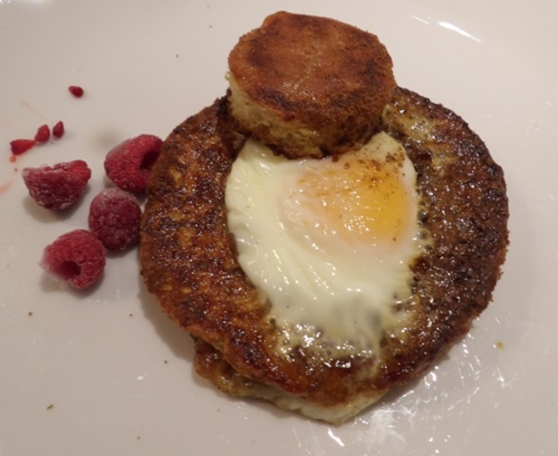 plated,French,bread,with,egg,in,hole  - Brunch - Baked Eggs in a Hole