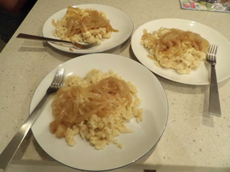 plated,German,noodle,dish