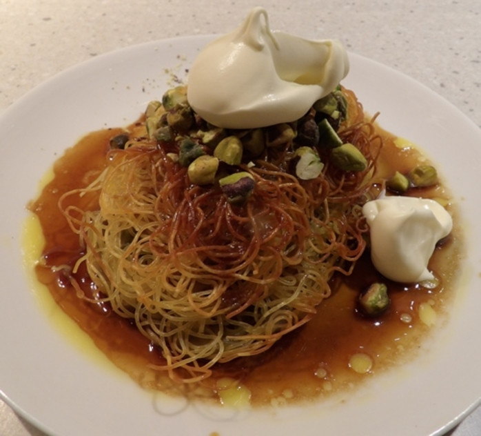 baked,pasta,nests,with,pistachio,nuts