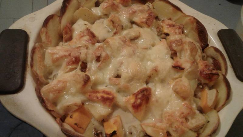 Potato Bake with Mushrooms and Bacon