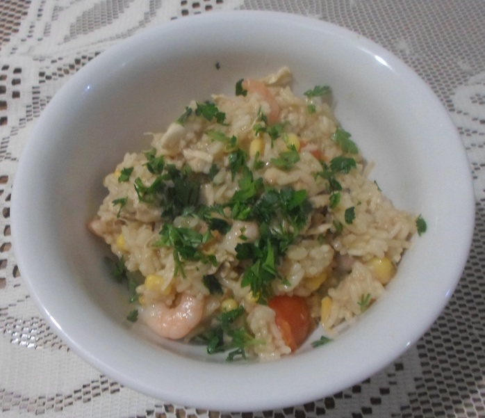 Prawn and chicken risotto