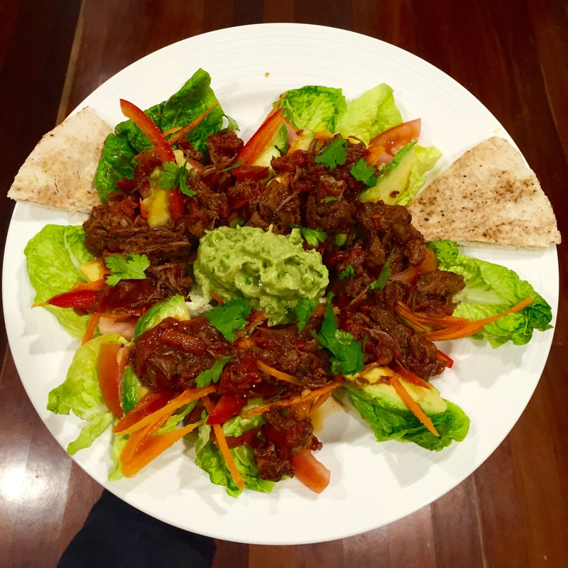 Pulled Beef With Guacamole  - Pulled Beef and Guacamole