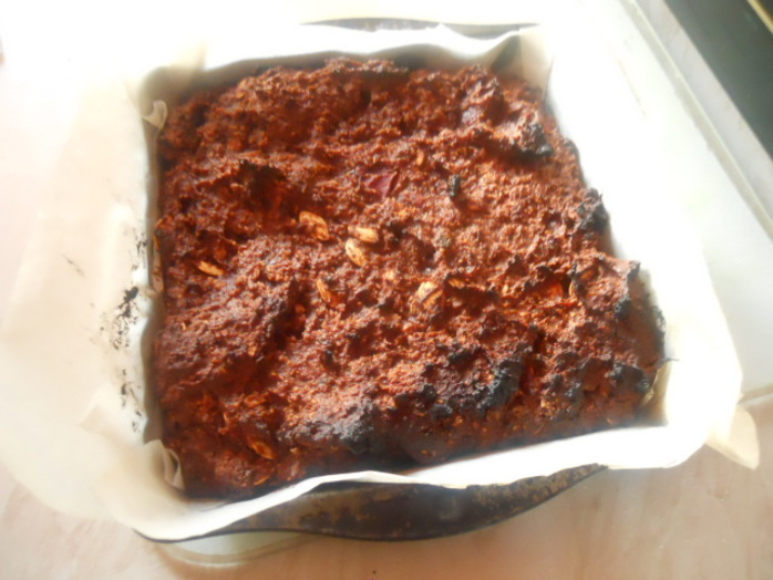pumpkin brownie, mixture