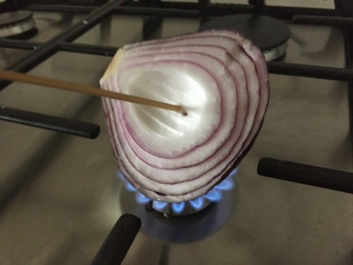 putting,onion,over,gas,flame