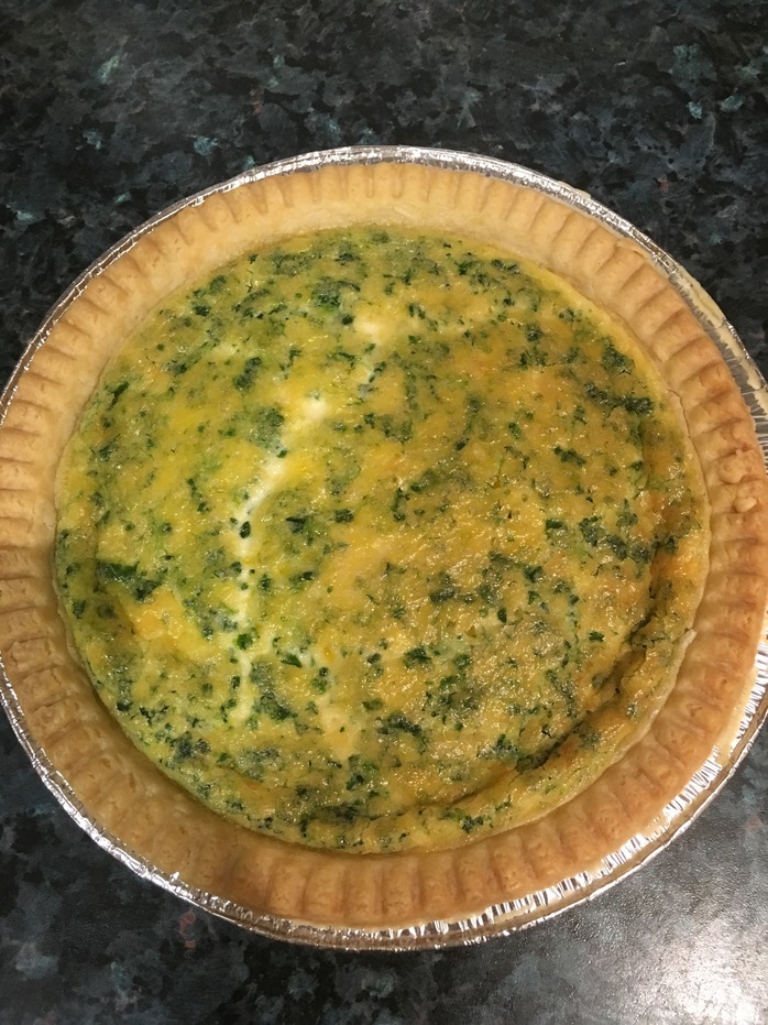 Quiche cooked