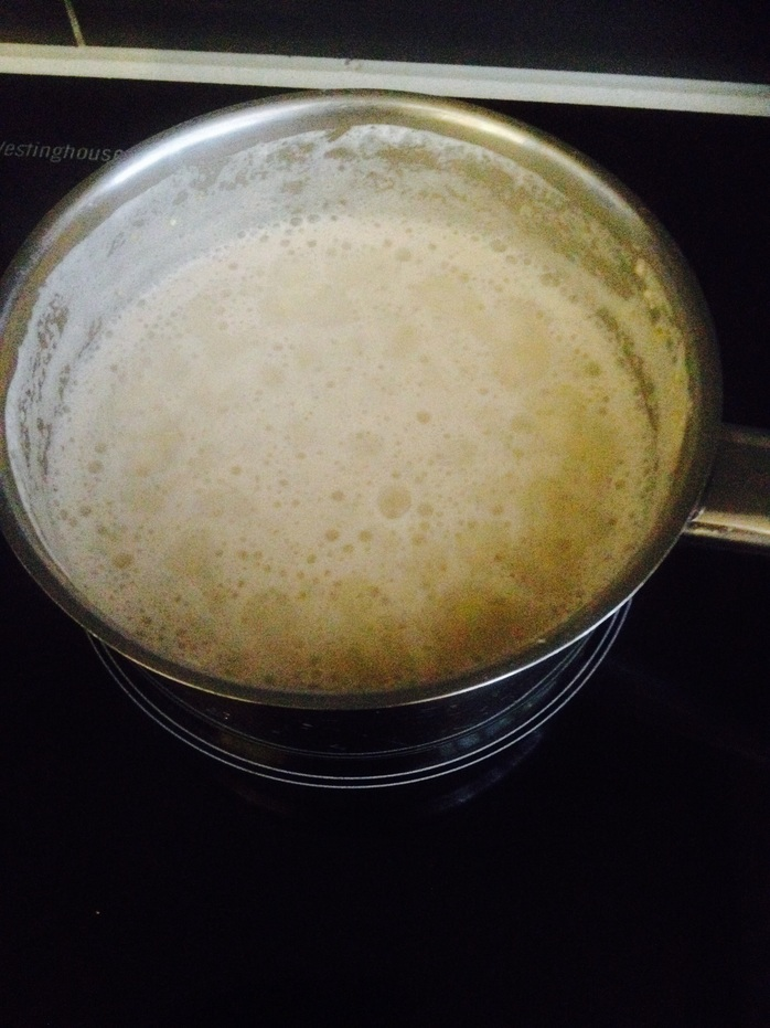 Quinoa cooking in milk