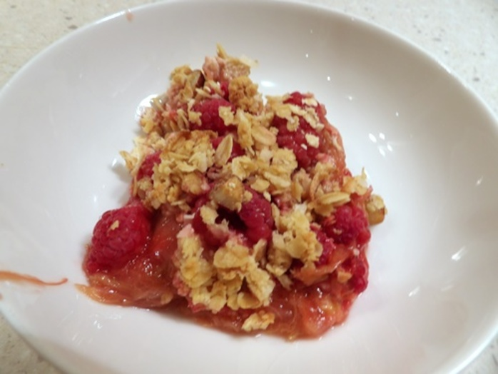 raspberry,crumble
