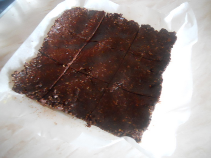 raw, brownies