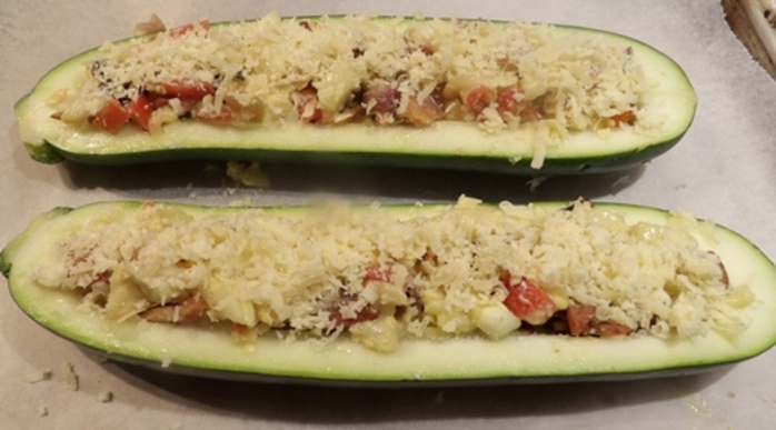 adding,cheese,to,zucchini,mixture