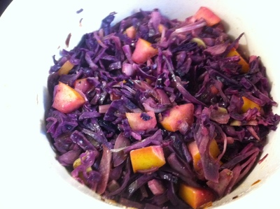 red cabbage, spiced