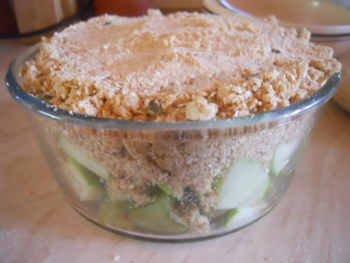 rhubarb & apple crumble