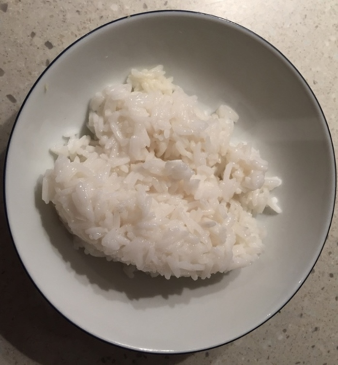 leftover,rice,and,strawberries,with,cream