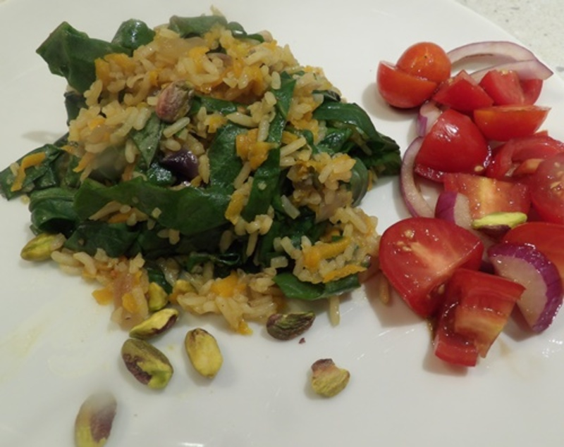 rice,with,spinach,and,pistachio,nuts  - Pistachio Vegetable Rice