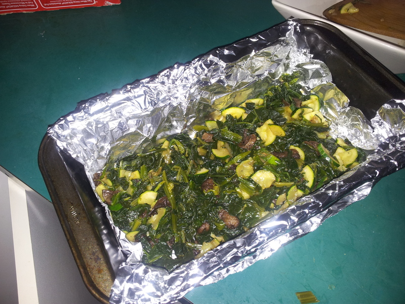 saag on tray  - Vegetable and Egg Casserole