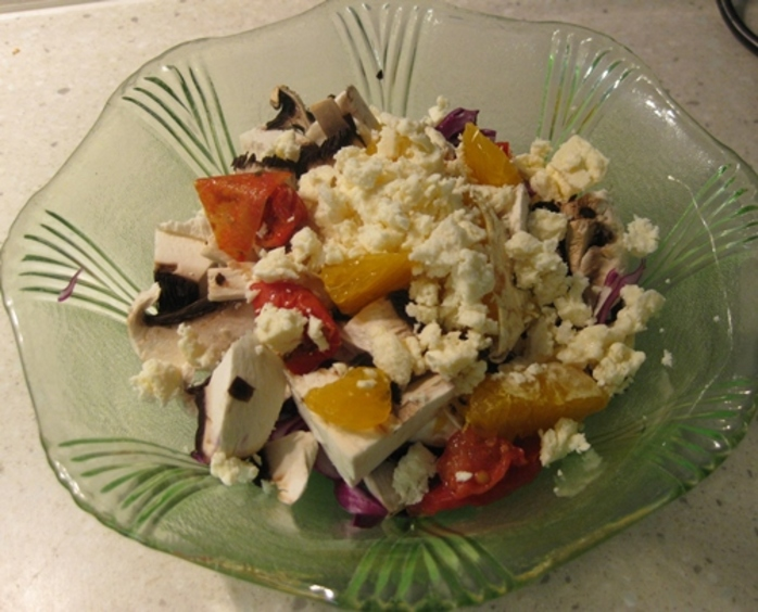 salad,red,cabbage,feta,orange,apple,mayo