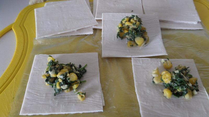 Rolled Spinach Pastry