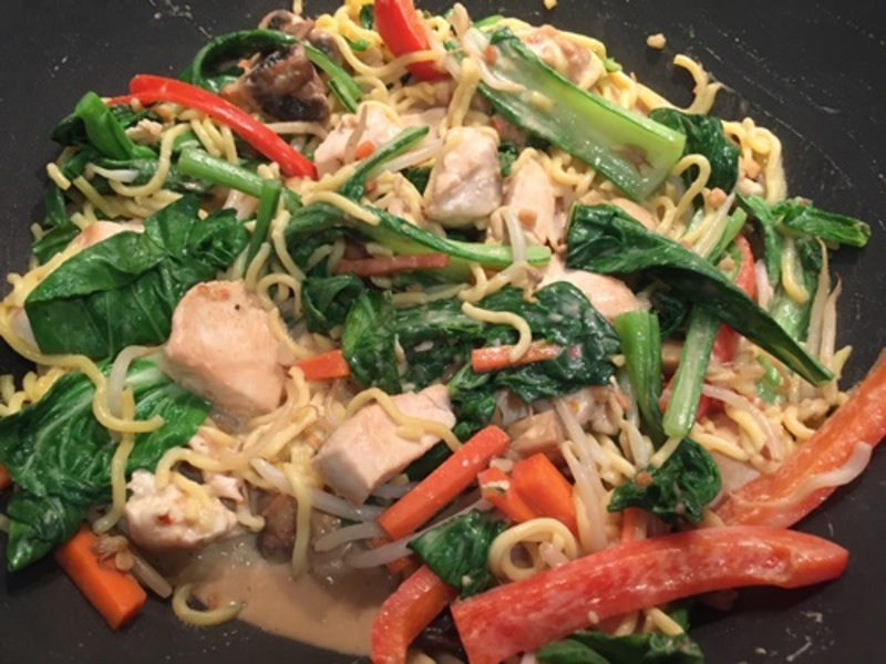 satay,chicken,with,vegetables  - Chicken Satay Vegetable Noodles
