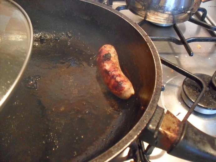 Sausage in pan
