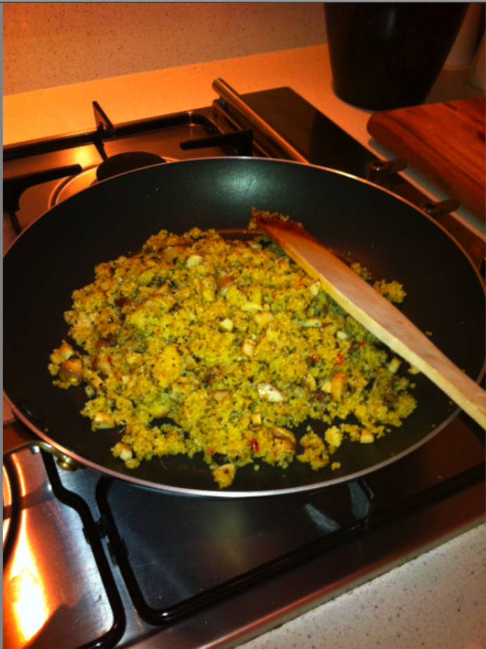 Saute the Mushroom and Cous Cous Mix