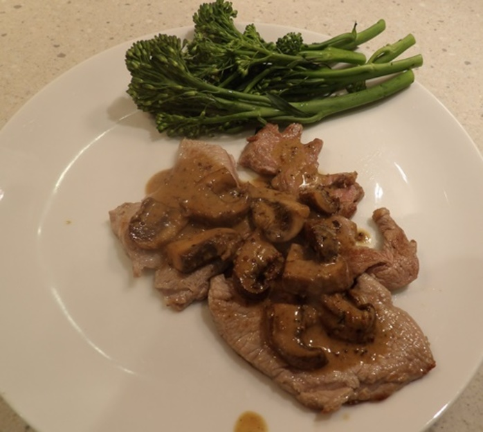 cooked,scallopine,on,paper