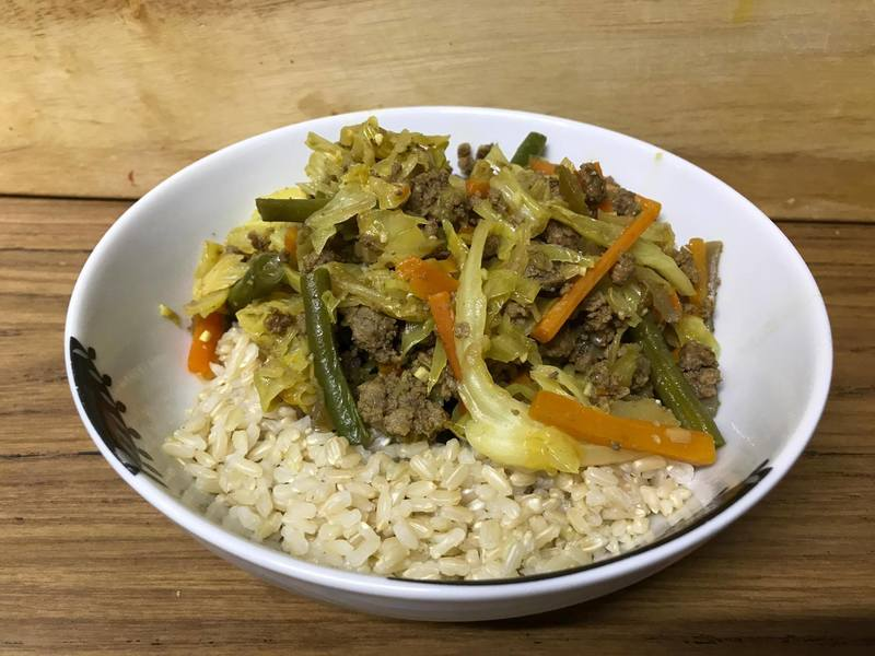 Serve with brown rice  - Healthy Chow Mein