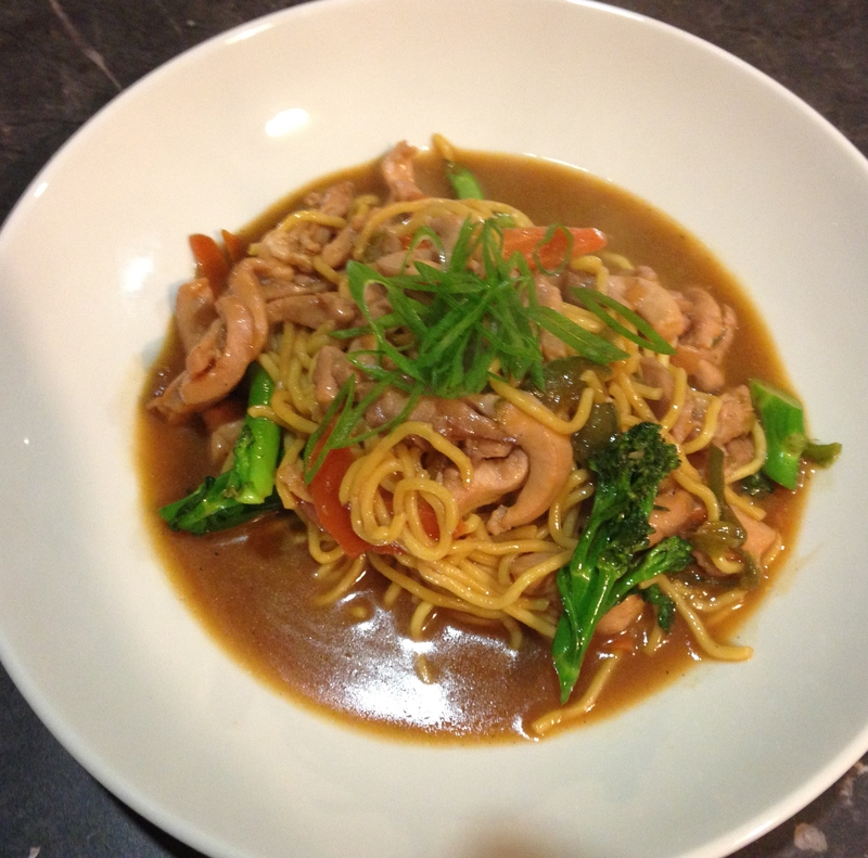 Served  - Char Sui Chicken And Vegetable Stir Fry With Noodles