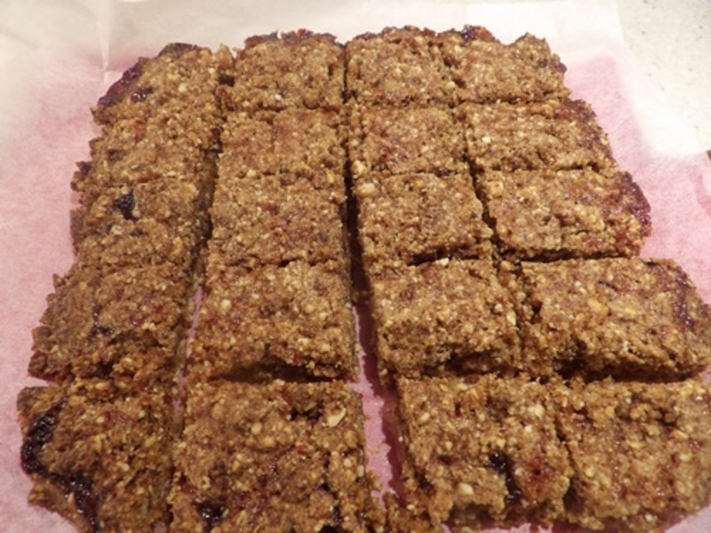 sliced,cooked,jam,bars  - Brown Butter Jam Bars with Home-made  Jam
