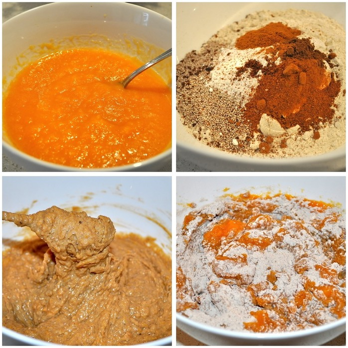 Spiced Pumpkin Cup Cakes Montage