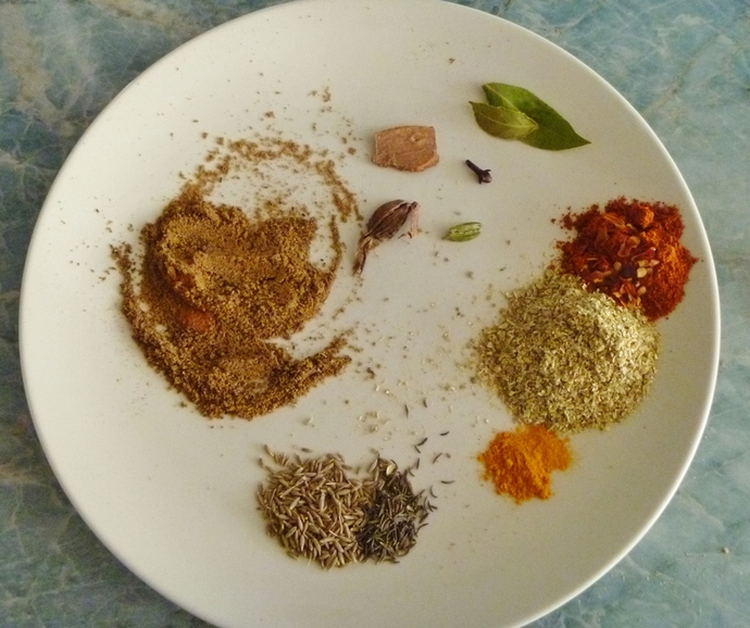 spices used for chicken balti recipe
