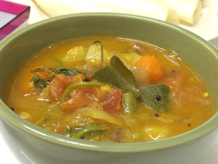 Spicy mixed vegetable stew