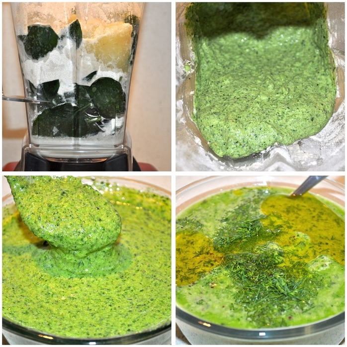 Spinach and Dill Pancakes Montage