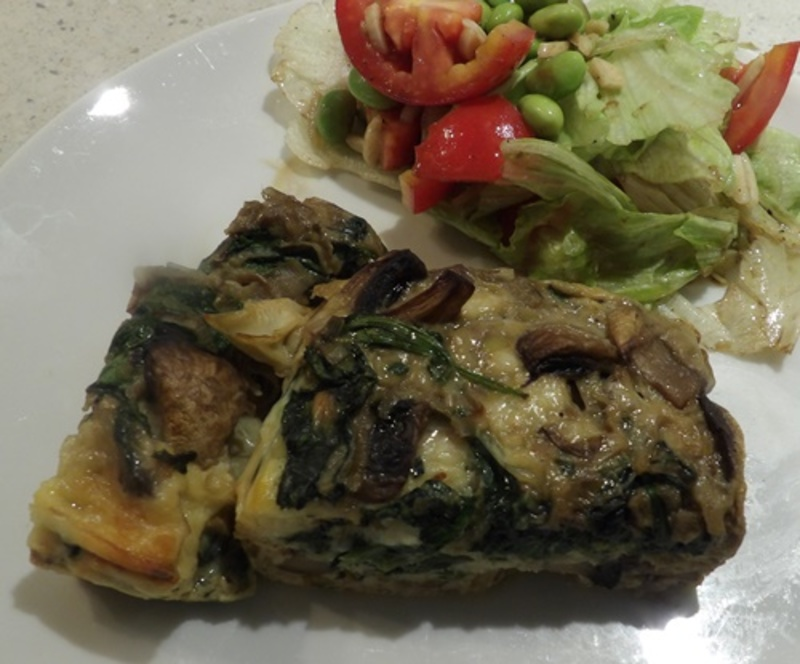 spinach,and,mushroom,frittata