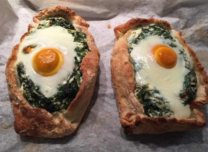 spinach,cheese,and,egg,pies