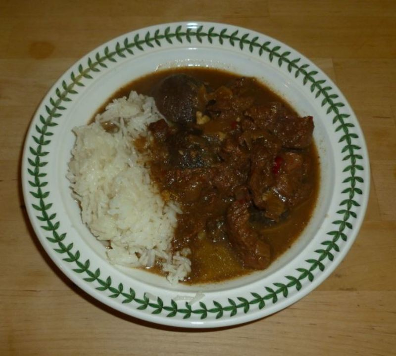 beef beetroot stew casserole hearty cooking  - Beef and Beetroot Stew