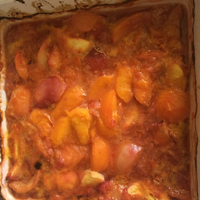 Stone fruit cooked
