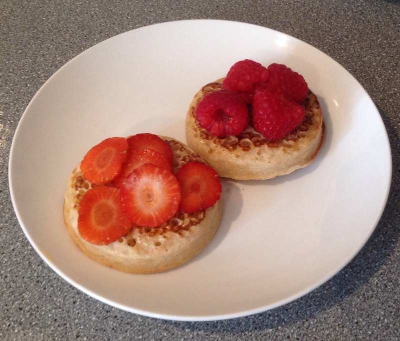 Buttered crumpets  - Fruity Crumpets