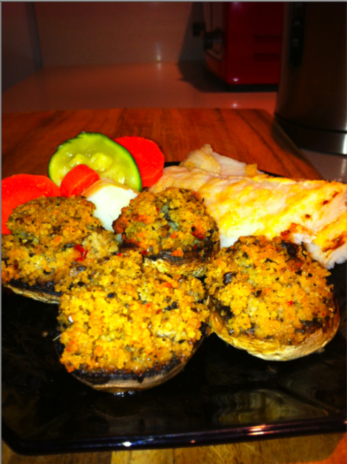 Stuffed Mushrooms make the perfect accompaniment to any meat, chicken or fish dish
