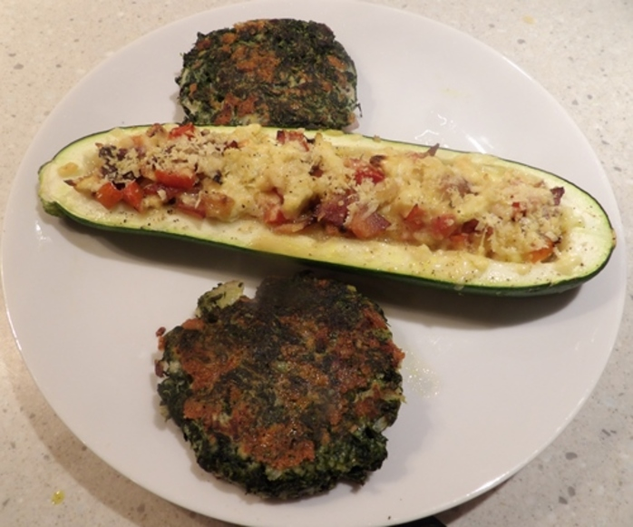 stuffed,zucchini,with,spinach,patties