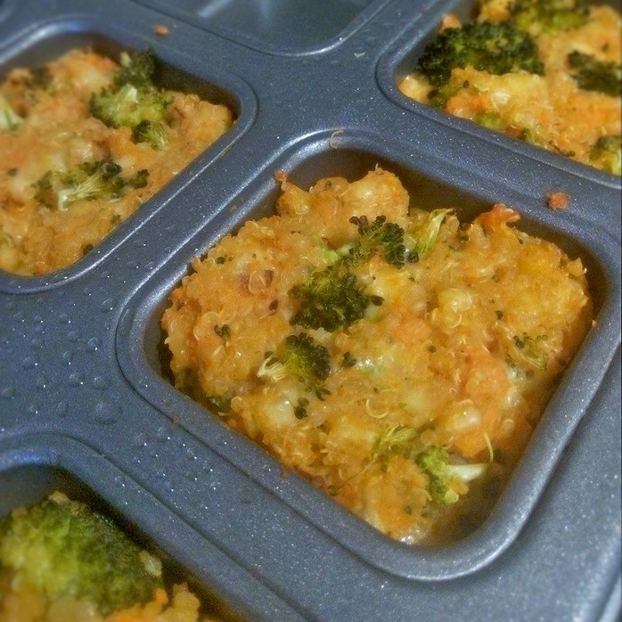 Sweet Potato, Quinoa and Broccoli Bites