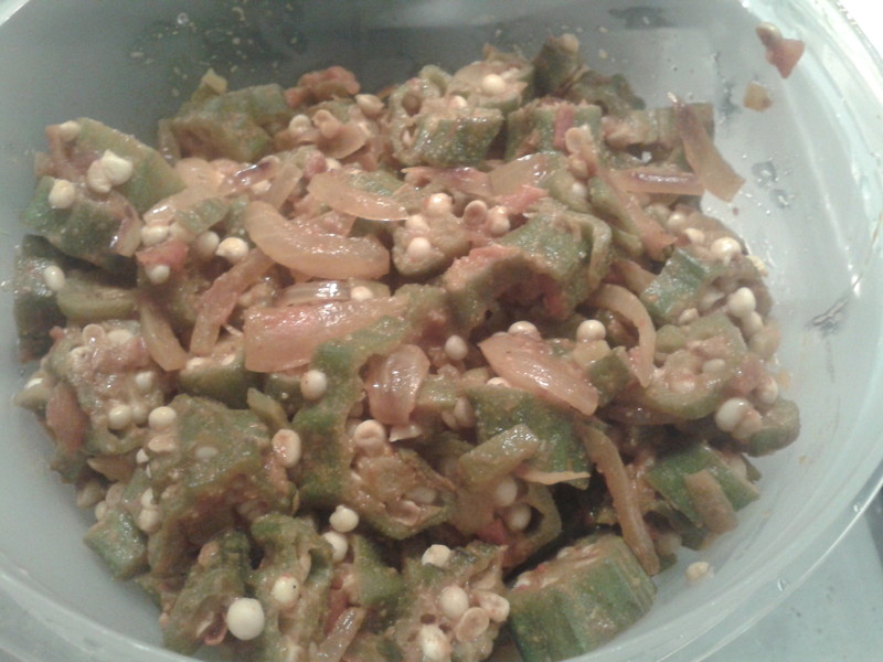 Okra in Indian style