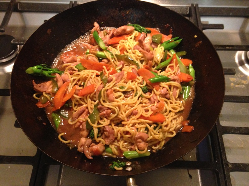 Noodles  - Char Sui Chicken And Vegetable Stir Fry With Noodles
