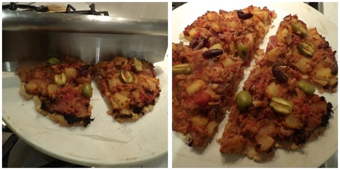 Tuna and Pear Pizza Montage